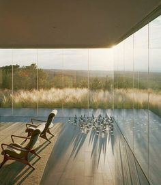 Santa Fe Glass House - Glass Corner terrasse graminées
