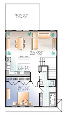 I actually really love this floorplan. It's also a garage apartment!