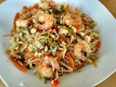 Wok de chou pointu aux crevettes et à la citronnelle façon Bo Bun : Recette de Wok de chou pointu aux crevettes et à la citronnelle façon Bo Bun - Marmiton