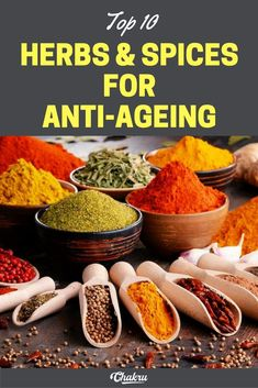 Anti-Aging Remedies Herbs and spices for anti-wrinkle and anti-ageing effect. - Skin-Boosting basil Herbs traditionally used in Italian cooking contain very high levels of antioxidants. Basil, the main ingredients in Italian Best Anti Aging Creams, Anti Aging Tips, Anti Aging Skin Care, Anti Aging Treatments, Prevent Wrinkles, Kraut, Anti Wrinkle, Skin Care Tips, Spices