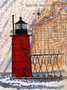 Image result for donna elias lighthouses on a chart   Lighthouses ...