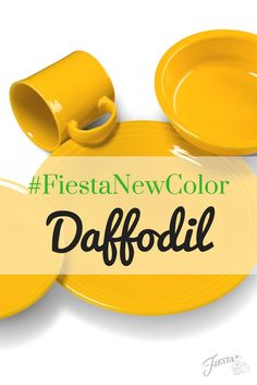 Fiesta Dinnerware introduces its new color for 2017 - Daffodil! Available mid-June 2017 at retailers nationwide and www. Learn more at www. Fiesta Kitchen, Fiesta Colors, Homer Laughlin, Creative Colour, Table Toppers, New Kitchen, Kitchen Ideas, Household Items, All The Colors