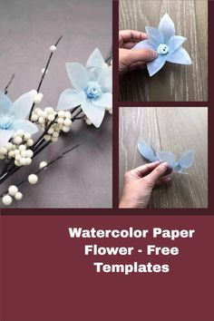 paper flower tutorial with free svg and printable templates Rolled Paper Flowers, How To Make Paper Flowers, Giant Paper Flowers, Paper Flower Tutorial, Printable Templates, Flower Template, How To Make Diy, Paper Clip, Flower Petals