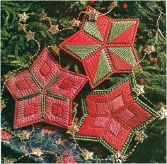 plastic canvas stars | Retro Crafting: Plastic Canvas Ornaments | Amy Alessio