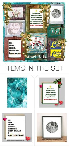 """""""A Caroling We Go w/ OwlArtShop"""" by rescuedofferings ❤ liked on Polyvore featuring art"""