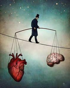 This is a great illustration of keeping #balance between the #mind and #heart...sometimes it's as tough as walking on a tightrope. #happysaturday #BalanceWithin #losangeles #mentalhealth #emotionalhealth #yoga #exercise #bestacupuncture