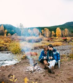 For the outdoorsy couples Camping Photography, Photography Words, Autumn Photography, Couple Photography, Picnic Engagement, Fall Engagement, Anniversary Photos, Adventure Is Out There, Couple Pictures