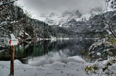 Lago di Tovel innevato. Val di Non. #TRENTINO