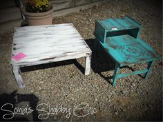 Shabby distressed tables! Always new painting tips, new junk money chalk paint colors, and DIY projects at styleshabby.com!
