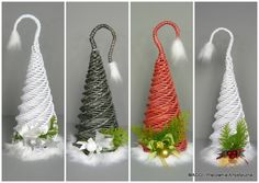 Sun Paper, Diy And Crafts, Arts And Crafts, Clay Fairy House, Holiday Crafts, Holiday Decor, Clay Fairies, Paper Weaving, Newspaper Crafts