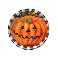 Halloween Party Plates Pumpkin Design