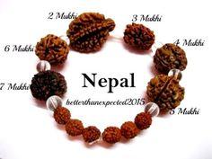 Rudraksha Rudraksh 2 3 4 5 6 7 Mukhi (Face) Beads Mala Wrist band bracelet-AA+++ Rudra Shiva, Mahakal Shiva, Hindu Rituals, Hindu Mantras, Ethnic Jewelry, Indian Jewelry, Lord Shiva Family, Lord Shiva Painting, Durga Goddess