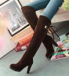 84531a90fe3 botas femininas 2015 knee boots women fashion long boot winter footwear  high heel shoes sexy snow