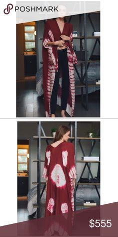 LONG BOHO KIMONO Arm holes  Viscose Hi/lo design New in bag 41 x 38 Accessories Scarves & Wraps