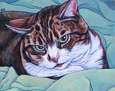 Peinture personnalisée de Portrait danimal de par bethanysalisbury