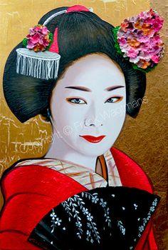 Moderne Schilderijen - Kunst Schilderijen Kleurrijke Grote Portretten