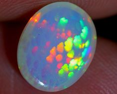 1.42ct RAINBOW CELL Natural Ethiopian Welo Opal / #opalauctions