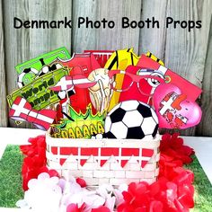 bf1bdf45ad8 World Cup DENMARK soccer photo booth props - the ultimate fan accessory -  2018 FIFA Soccer