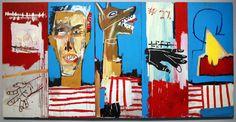 Jean-Michel Basquiat - Dog Bite Ax to Grind - Acrylic on canvas