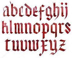 Resultado de imagem para caligrafia gotica alemã