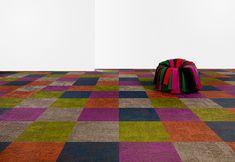 bright colored carpet bolon square pattern 1 Bright Colored Carpet by Bolon