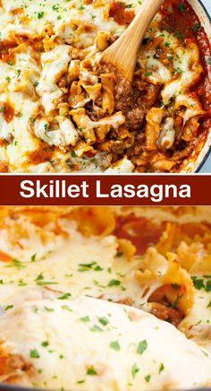 Ground Beef Lasagna Recipe, Ground Beef Pasta, Pasta Recipes With Ground Beef, Best Easy Lasagna Recipe, Ground Beef Crockpot Recipes, Classic Lasagna Recipe, Pasta Dinner Recipes, Easy Pasta Recipes, Healthy Chicken Recipes