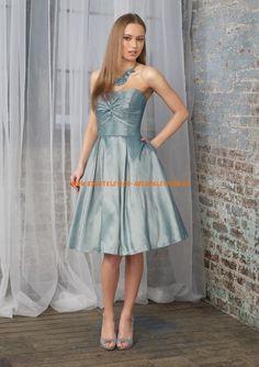2013 Billige Abendkleider kurz A-Linie