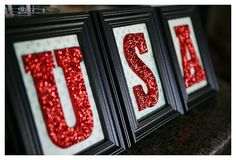 USA Glitter Frames  ***Love this but would dowhite frames and a patriotic paper background***