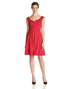 Maggy London Women's Floral Fit-and-Flare Dress