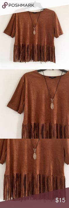 🍁Forever 21 top size Small🍁 Forever 21 fringe Top size small great condition like new!!!!! Forever 21 Tops Blouses