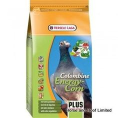 Versele Laga Colombine Energy Corn Plus Pigeon Food I C 5 x 3kg Versele Laga Colombine Energy Corn Plus I C provides great overall support for the  muscles, feathers & internal organs of racing pigeons that are in hard work.