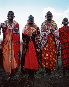 Maasai - bright and colourful!