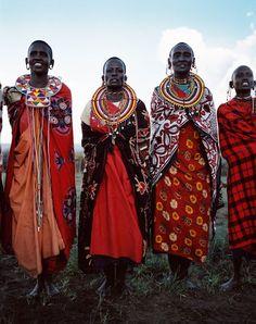 Maasai - bright and colourful!