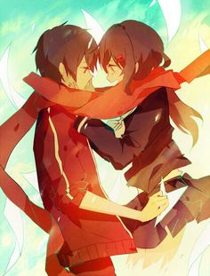 Shintaro and Ayano #kagerou project #anime #couple