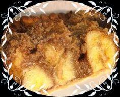 Tarta de Banana (plátano) Contiene magnesio, potasio, calcio, minerales y proteínas.