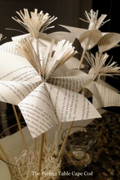 www.theperfecttablecapecod.com Book Party Decorations