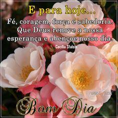 Flores e frases: E PRA HOJE...