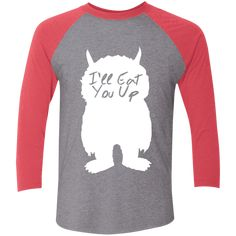 I'll Eat You Up Tri-Blend 3/4 Sleeve Baseball Raglan T-Shirt – Rebel Style Shop Mommy And Me Outfits, Cute Outfits, Mom And Baby, Punk Rock, Rockabilly, Pin Up, T Shirts For Women, Boho, Sleeves