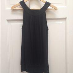 Michael Kors Black Sleeveless Tank Top Michael Kors gently preowned black top. Banded waist. Soft material Michael Kors Tops Tank Tops