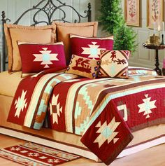 eclectic bedding by Lone Star Western Decor  #cricut
