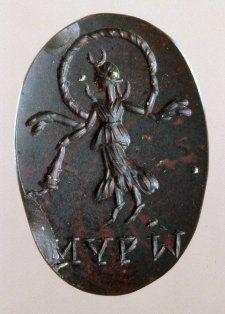 Intaglio, bloodstone, Rome, magic charm.
