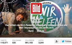 Great to see Germany's @BILD highlighting plight of refugees with articles, photos, tweets & this profile pic