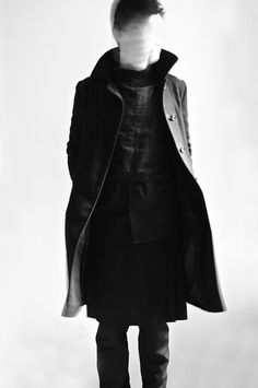 Trench coat + man-skirt