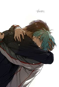 This is so sweet and yet manages to make me feel so sad | Aomine and Kuroko hug | KnB