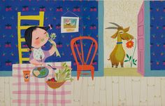 mary blair vintage illustration golden book