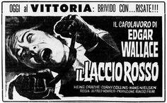 """""""Il laccio rosso"""" (Das indische Tuch, 1963) di Alfred Vohrer, con Heinz Drache, Corny Collins e Klaus Kinski. Italian release: May 9, 1964 #MoviePosters"""