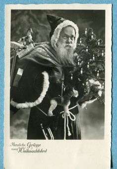 X9397 Real photo Santa Claus postcard, Tree and Toys,  NPG 4681
