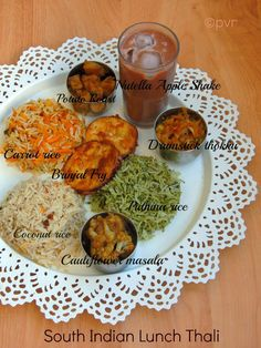 Simple birthday party recipes menu for kids kids menu pinterest south indian lunch thali with nutella apple shake a virtual birthday party for manjula forumfinder Image collections
