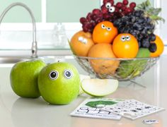 Surprise your kids by turning a boring snack into a fun personality with Edible Eyeballs!