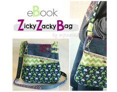Die ZickyZackyBag ist eine praktische Tasche für den täglichen Krimskrams, den kleine und große Mädchen gerne mit sich herumtragen.   Mit Hilfe dieser Anleitung und den Schnittteilen kannst Du...